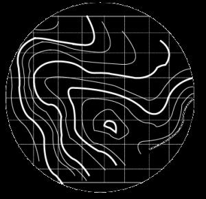 Logo básico de curvas de nivel